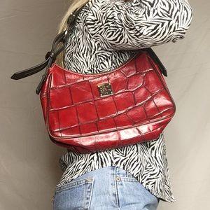DOONEY & BOURKE vintage Red Crocodile Embossed bag
